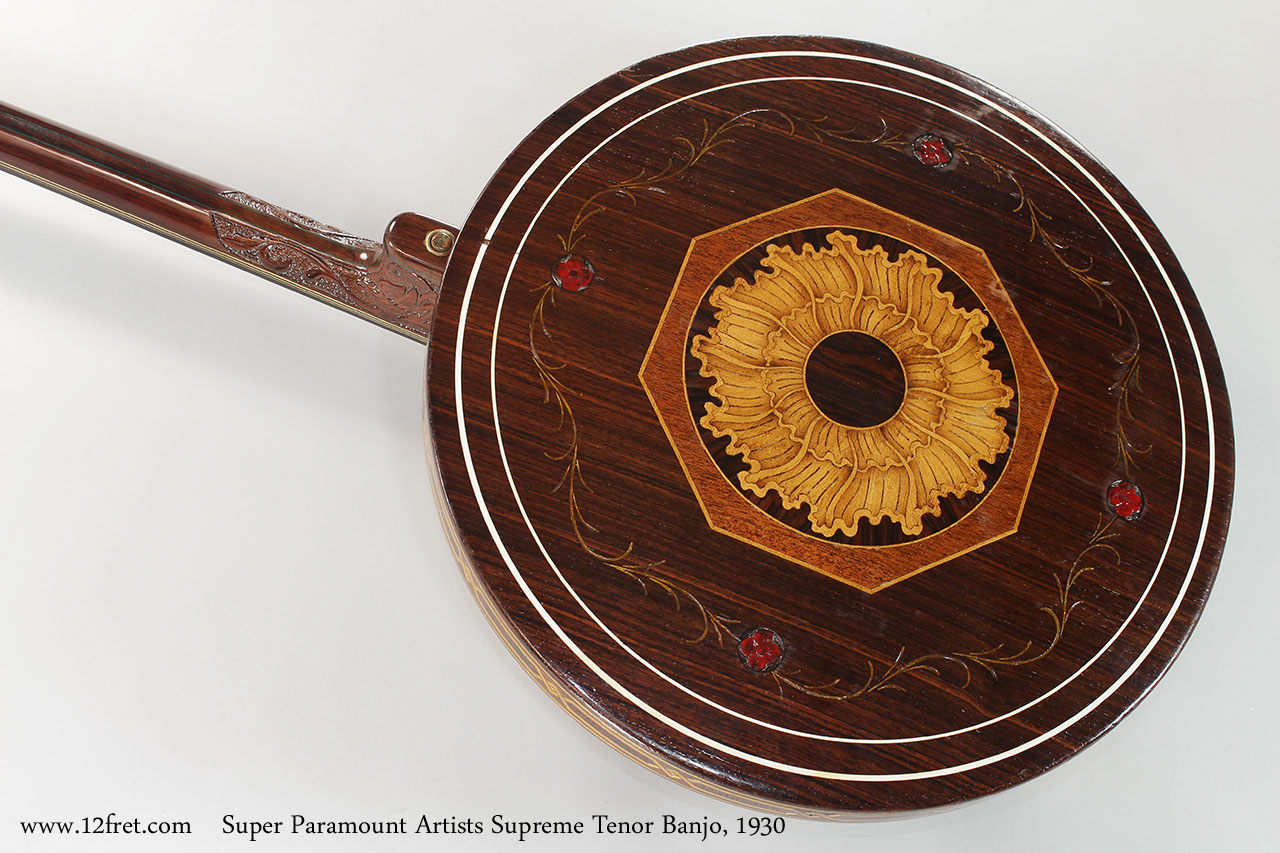 Super Paramount Artists Supreme Tenor Banjo, 1930 Rear View