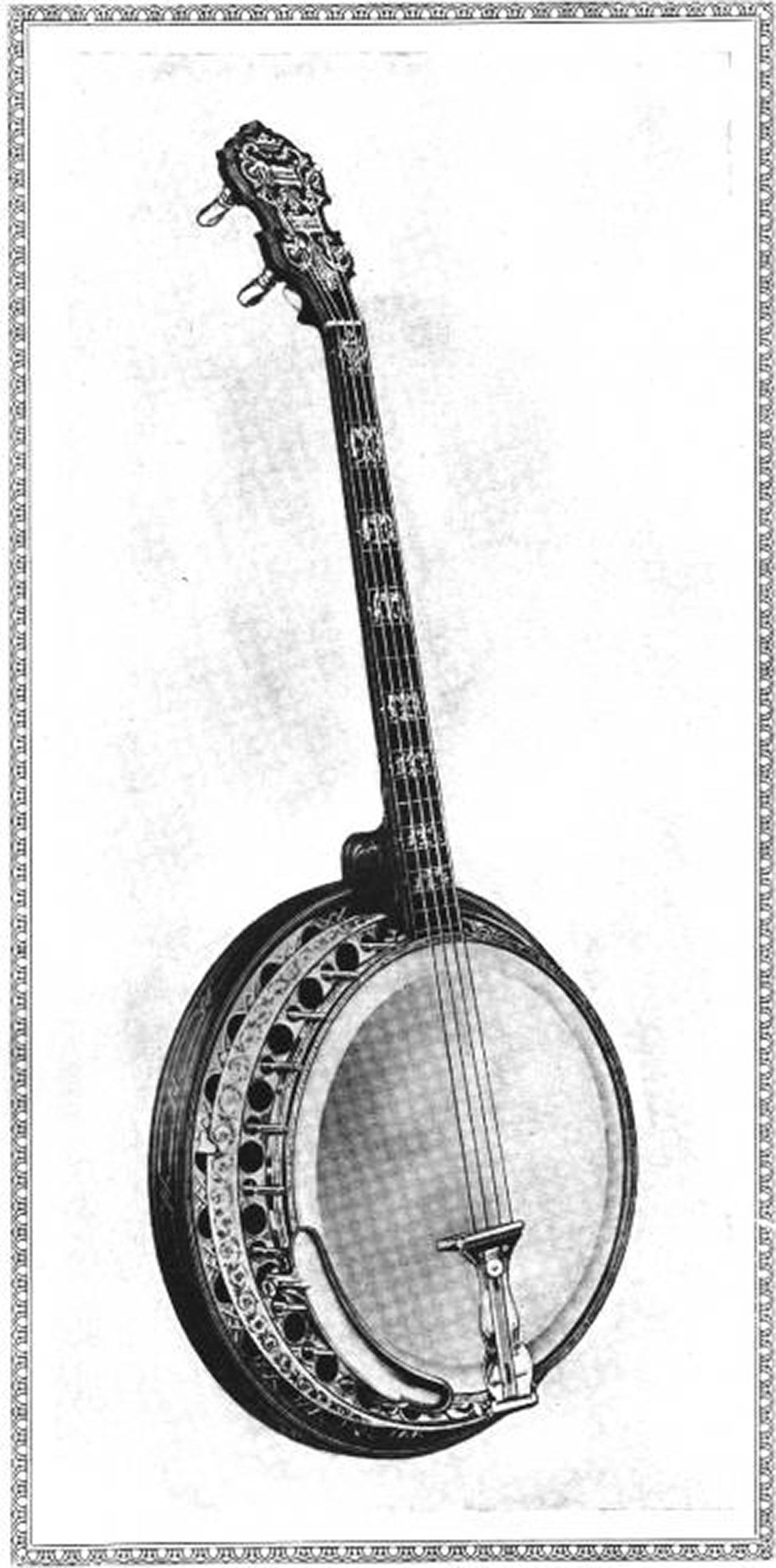 Super Paramount Artists Supreme Tenor Banjo, 1930 Catalog Photo