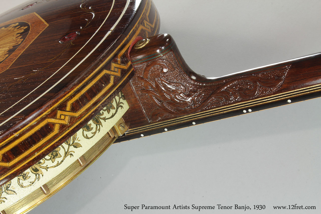 Super Paramount Artists Supreme Tenor Banjo, 1930 Heel