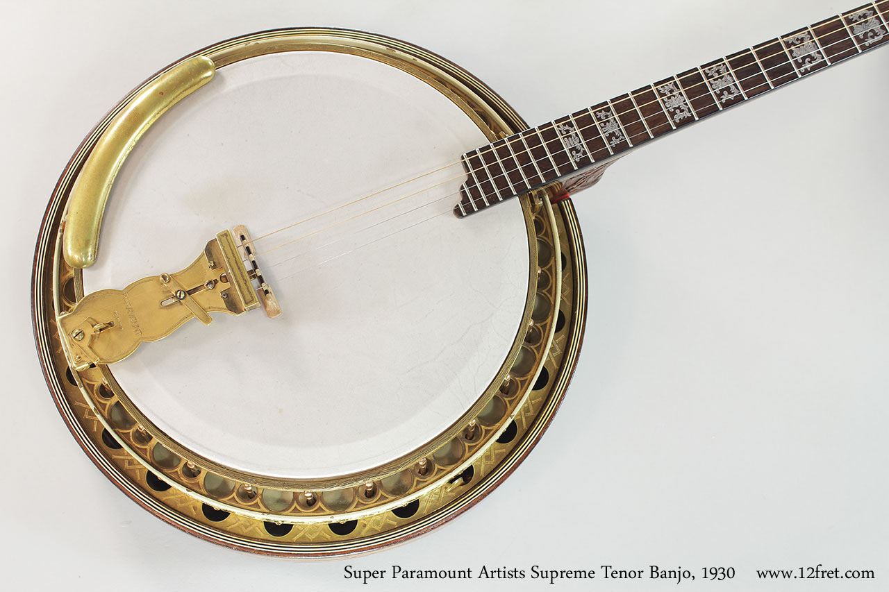 Super Paramount Artists Supreme Tenor Banjo, 1930 Top View