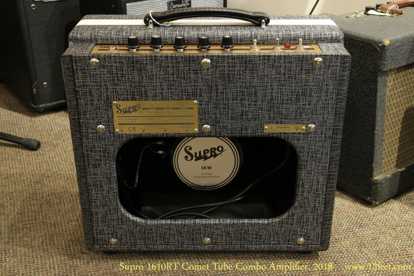 Supro 1610RT Comet Tube Combo Amplifier, 2018 Full Rear View