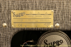 Supro 1610RT Comet Tube Combo Amplifier, 2018   Label View