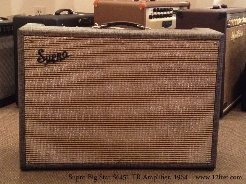 Supro Big Star S6451 TR Amplifier, 1964 Full Front View