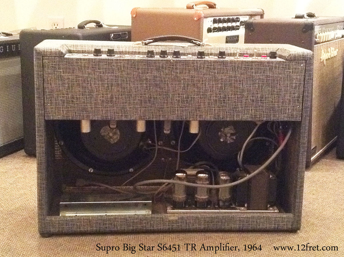 Supro Big Star S6451 TR Amplifier, 1964 Full Rear View