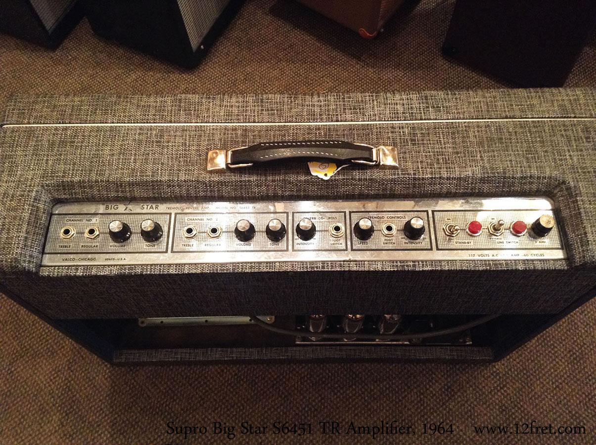 1964 Supro Big Star S6451 TR Amplifier | www 12fret com