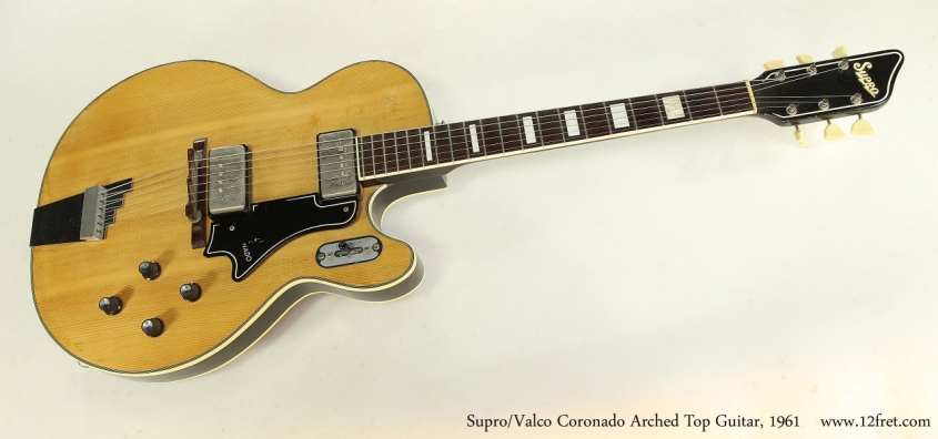 Supro/Valco Coronado Arched Top Guitar, 1961  Full Front VIew