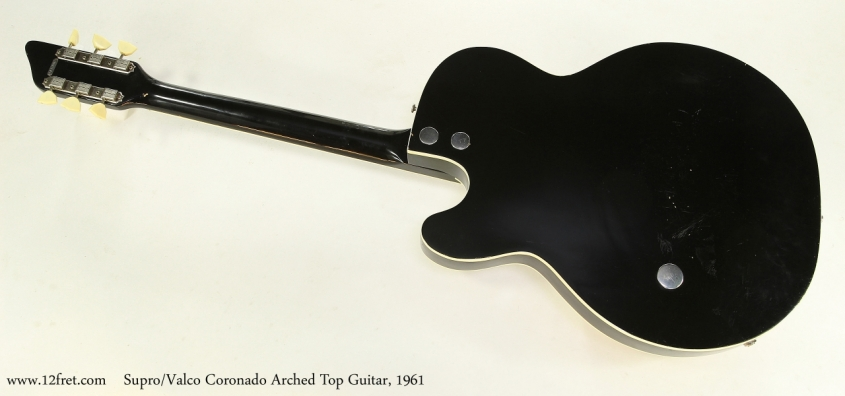 Supro/Valco Coronado Arched Top Guitar, 1961  Full Rear View