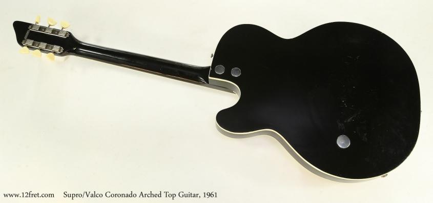 Supro/Valco Coronado Arched Top Guitar, 1961  Full Rear View