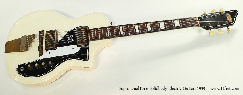 Supro DualTone Solidbody Electric Guitar, 1959 Full Front View