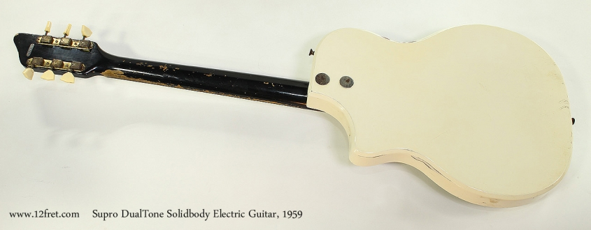 Supro DualTone Solidbody Electric Guitar, 1959 Full Rear View