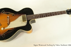 Supro Westwood Archtop by Valco, Sunburst 1956  Full Front View