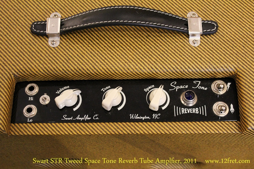 Swart STR Tweed Space Tone Reverb Tube Amplfier, 2011 Control Panel View