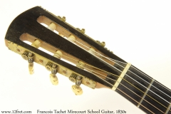 Francois Tachet Mirecourt School Guitar, 1830s Head Front View