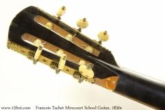 Francois Tachet Mirecourt School Guitar, 1830s Head Rear View