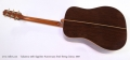 Takamine 45th Sapphire Anniversary Steel String Guitar, 2007 Full Rear View