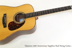 Takamine 45th Anniversary Sapphire Steel String Guitar, 2007    Full Front View