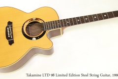 Takamine LTD 98 Limited Edition Steel String Guitar, 1998   Full Front View