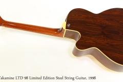 Takamine LTD 98 Limited Edition Steel String Guitar, 1998   Full Rear View