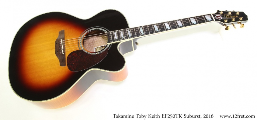 Takamine Toby Keith EF250TK Suburst, 2016 Full Front View