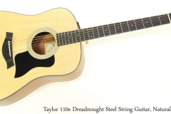 Taylor 110e Dreadnought Steel String Guitar, Natural Full Front View