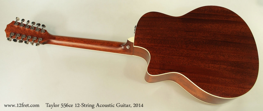 Taylor 556ce 12-String Acoustic Guitar, 2014 Full Rear View