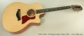 Taylor 556ce 12-String Acoustic Guitar, 2014 Full Front View