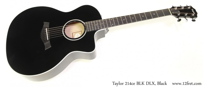 Taylor 214ce BLK DLX, Black Full Front View