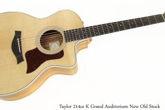 Taylor 214ce K Grand Auditorium New Old Stock Full Front View