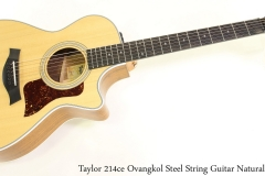 Taylor 214ce Ovangkol Steel String Guitar Natural Full Front View