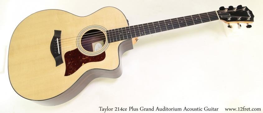 Taylor 214ce Plus Grand Auditorium Acoustic Guitar Full Front View