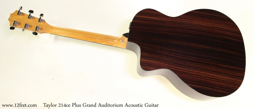 Taylor 214ce Plus Grand Auditorium Acoustic Guitar Full Rear View