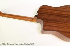 Taylor 310ce Cutaway Steel String Guitar, 2013  Full Rear View