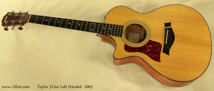 Taylor 312ce Left Handed, 2005 full front view