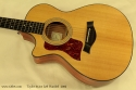 Taylor 312ce Left Handed, 2005 top