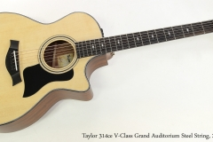 Taylor 314ce V-Class Grand Auditorium Steel String, 2018   Full Front View