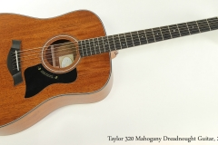 Taylor 320 Mahogany Dreadnought Guitar, 2013 Full Front View