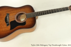 Taylor 320e Mahogany Top Dreadnought Guitar, 2015   Full Front View