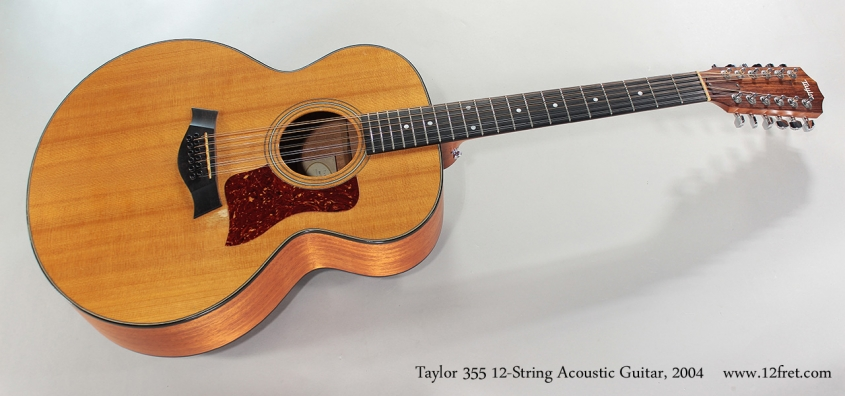 Taylor 355 12-String Acoustic Guitar, 2004 Full Front View