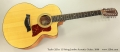 Taylor 355ce 12-String Jumbo Acoustic Guitar, 2006 Full Front View