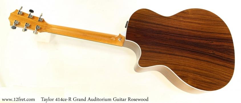 Taylor 414ce R Grand Auditorium Guitar Rosewood Full Rea View