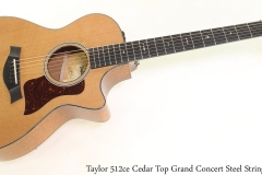 Taylor 512ce Cedar Top Grand Concert Steel String Full Front View