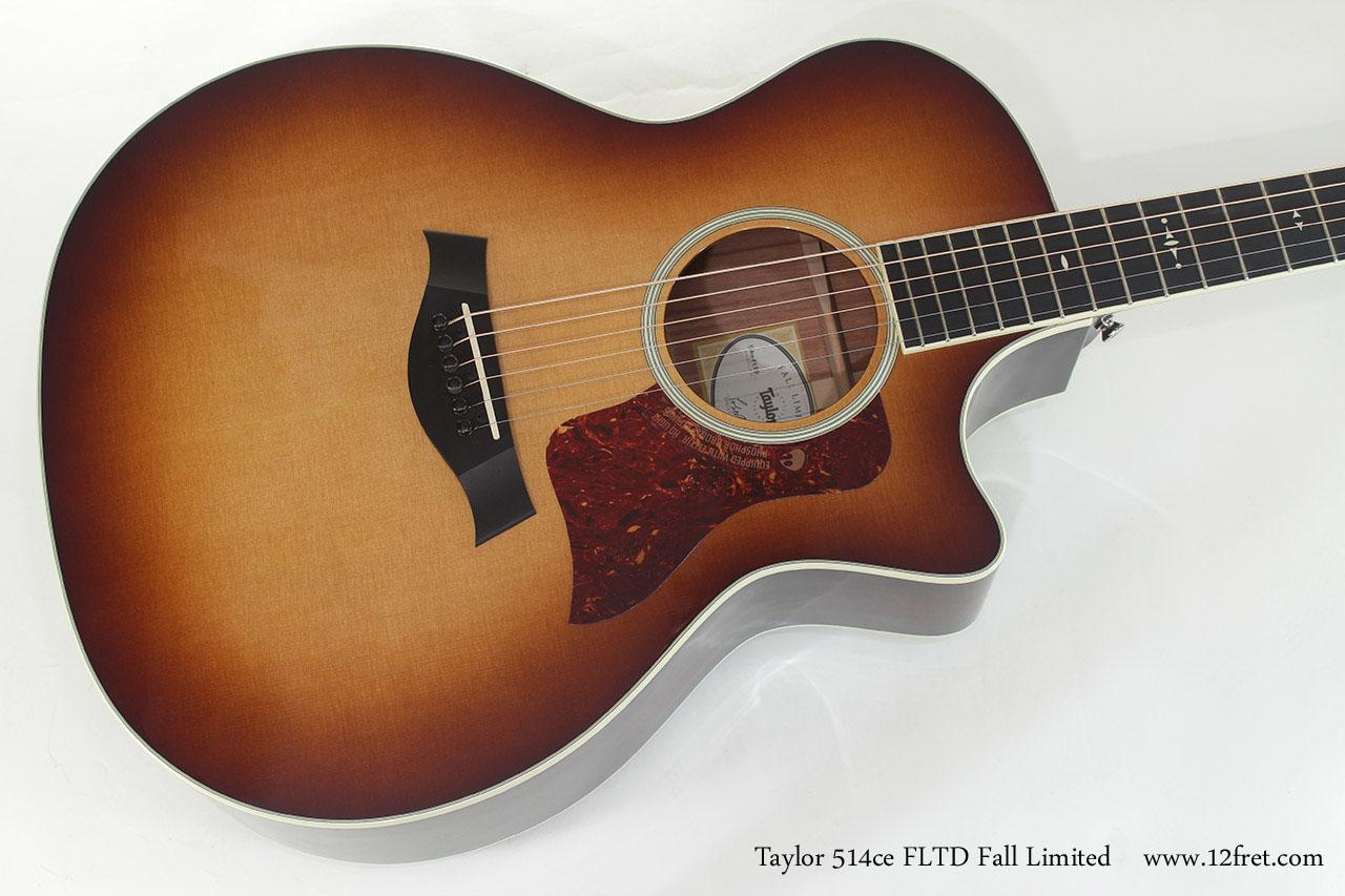 Taylor 514ce FLTD Fall Limited top