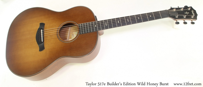 Taylor 517e Builder's Edition Wild Honey Burst Full Front View