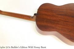 Taylor 517e Builder's Edition Wild Honey Burst Full Rear View
