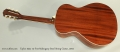 Taylor 522e 12-Fret Mahogany Steel String Guitar, 2015 Full Rear View