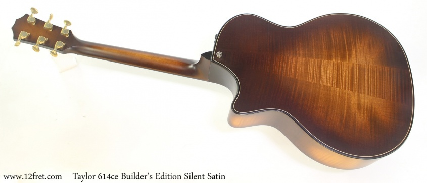 Taylor 614ce Builder's Edition Silent Satin Full Rear View