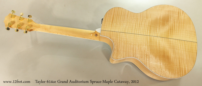 Taylor 614ce Grand Auditorium Spruce-Maple Cutaway, 2012 Full Rear View