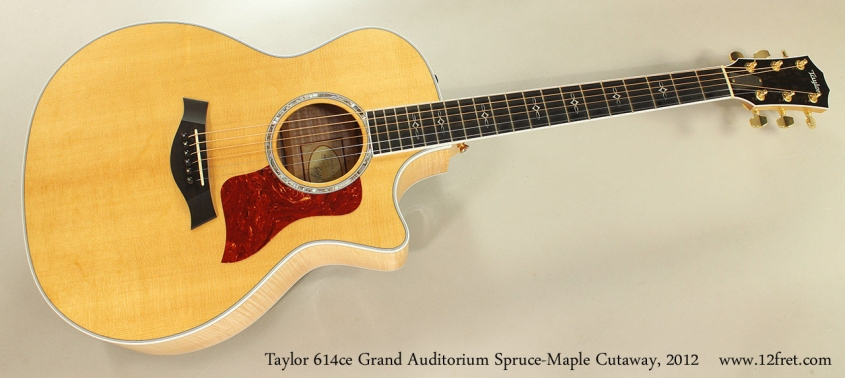 Taylor 614ce Grand Auditorium Spruce-Maple Cutaway, 2012 Full Front View