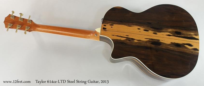 Taylor 614ce-LTD Steel String Guitar, 2013 Full Rear View