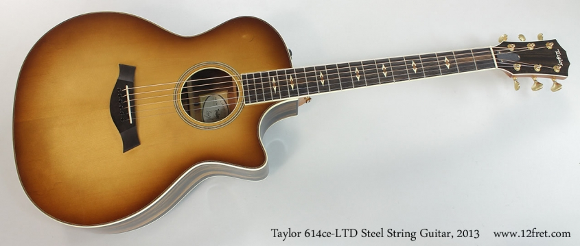 Taylor 614ce-LTD Steel String Guitar, 2013 Full Front View